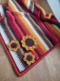 钩针编织秋天毯子,被构造 免版税库存图片