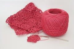 钩针编织粉红色 库存图片