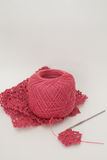 钩针编织粉红色 库存照片