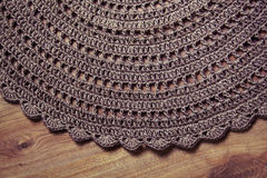 钩针编织地毯背景 图库摄影