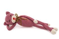钩针编织猫 库存照片