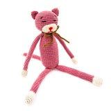 钩针编织猫 库存图片