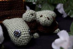 钩针编织的乌龟 库存图片