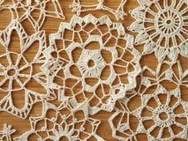 钩针编织的雪剥落 库存图片