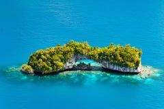 钯金岛从上面 免版税图库摄影