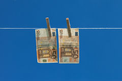 洗钱。 免版税库存照片