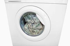 洗钱与洗衣机 免版税库存图片