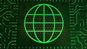 钱包与绿色球形的标志板 库存图片