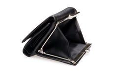 黑钱包-储蓄图象 库存照片
