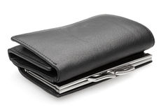 黑钱包-储蓄图象 免版税库存图片