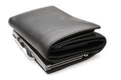黑钱包-储蓄图象 图库摄影
