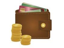 钱包 库存例证