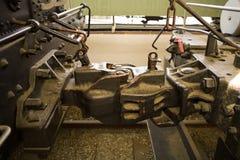 钳位机车蒸汽 库存图片
