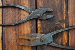 钳子和剪刀金属的 免版税库存照片