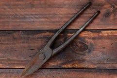 钳子和剪刀金属的 库存照片