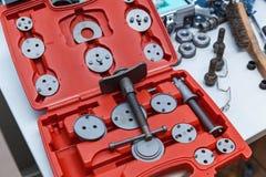 钳子和特别轮尺集合工具 图库摄影