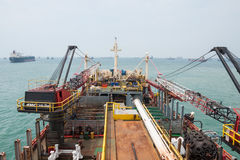 钻井船设备 库存照片