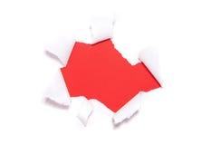 钻孔被撕毁的纸张 免版税库存图片