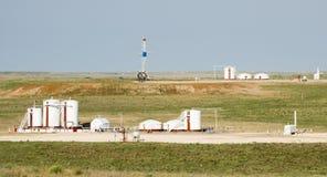 钻气体或液体燃料钻机储存箱 免版税库存照片