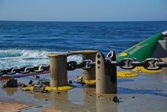钻移动船具半潜水艇 免版税图库摄影