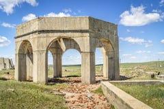 钾盐植物废墟在Antioch,内布拉斯加 免版税库存照片