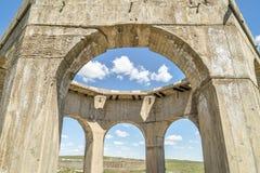 钾盐植物废墟在Antioch,内布拉斯加 免版税库存图片
