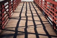 铁与阴影的桥梁细节 库存图片