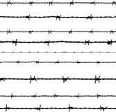 铁丝网。传染媒介 库存图片