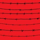 铁丝网。传染媒介 库存照片