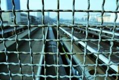 铁丝网。 库存照片