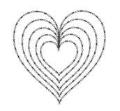 铁丝网心脏 库存照片