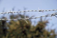 铁丝网接近 库存图片