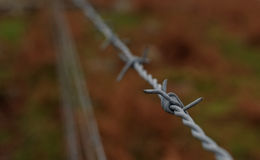 铁丝网篱芭, Dartmoor,英国 库存图片