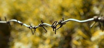 铁丝网,段落被禁止,宏观照片 免版税图库摄影