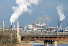 铁冶金工厂钢 免版税图库摄影