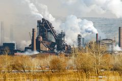 铁冶金工厂钢 免版税库存图片
