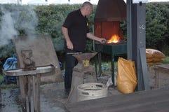 铁匠热化金属 库存图片