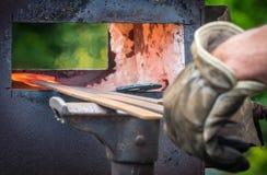 铁匠热的熔炉 库存照片