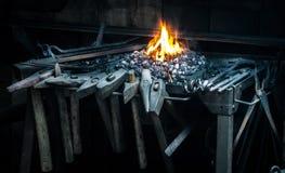 铁匠的齿轮 库存图片