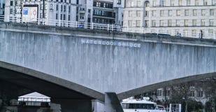 滑铁卢桥梁 免版税库存照片