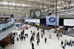 滑铁卢火车站,伦敦,英国 图库摄影