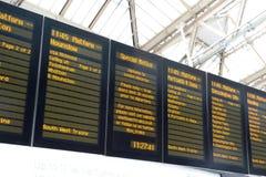 滑铁卢火车站,伦敦,英国 免版税库存图片