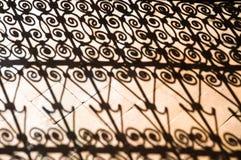 铁器摩洛哥人影子 免版税图库摄影