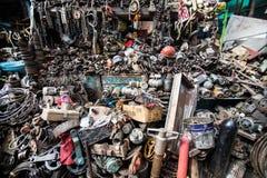 铁器类义卖市场 免版税库存图片
