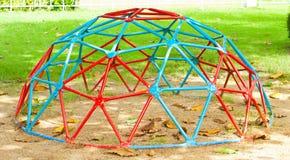 铁圆顶在操场 免版税库存图片
