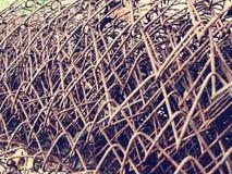 铁在捆绑的金属丝网 免版税库存照片