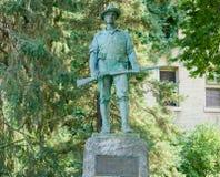 铁在明尼苏达大学的校园里的麦克雕象 库存照片