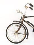 铁在白色背景隔绝的自行车模型一个前轮  库存照片