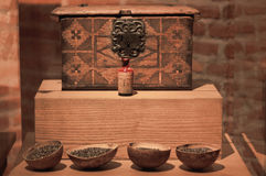 铁墨西哥瓦哈卡圣多明哥修道院博物馆老样品  免版税库存图片