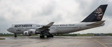 铁娘子乐团的波音747爱德力量一 免版税图库摄影